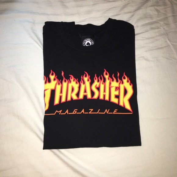 1d560861e6d8 Thrasher Shirts | Magazine Flames Logo T Shirt | Poshmark